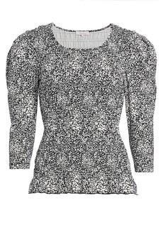 Parker Capella Print Puff-Sleeve Top