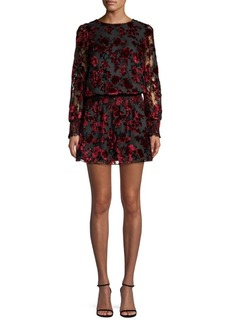 Parker Carmindy Flocked Velvet Mini Dress
