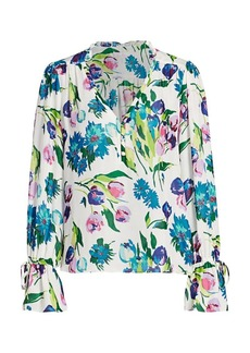 Parker Cassidy Floral Silk Blouse
