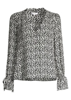 Parker Cassidy Print Stretch Silk Top