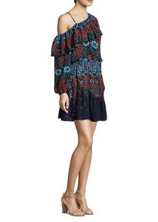 Clarisse One-Shoulder Silk Dress