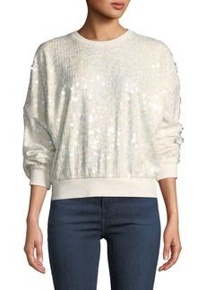 Parker Coby Sequined Crewneck Sweatshirt