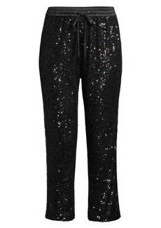 Parker Conner Sequin Knit Combo Pants