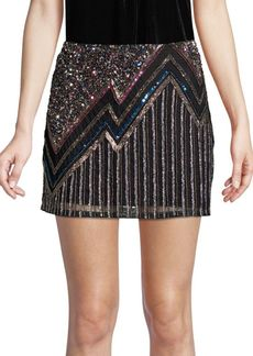 Parker Corsica Beaded Mini Skirt