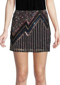 Parker Corsica Beaded Mini Skirt