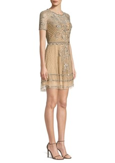Parker Daisy Beaded Mini Dress