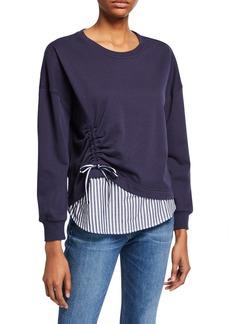 Parker Darce Ruched Combo Sweatshirt
