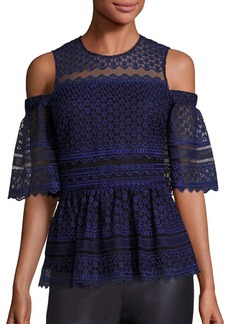 Parker David Cold-Shoulder Peplum Top