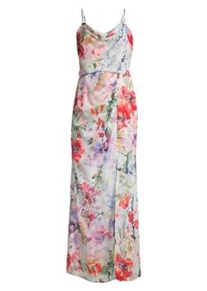 Parker Delphine Floral Chiffon Maxi Dress