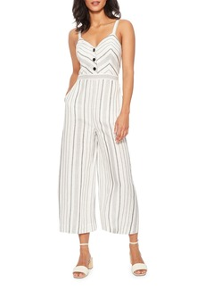 Parker Dominica Striped Sleeveless Wide-Leg Crop Jumpsuit