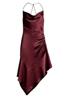 Parker Edyth Asymmetric Satin Dress