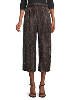 Parker Elen Studded Wide Cropped Pants
