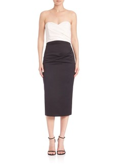 Parker Eliana Colorblock Strapless Dress