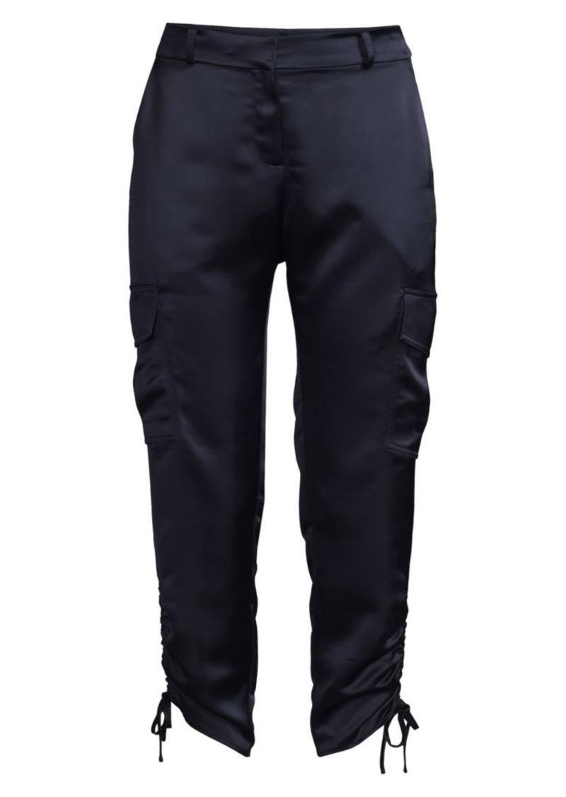 Parker Emerson Satin Cropped Cargo Pants
