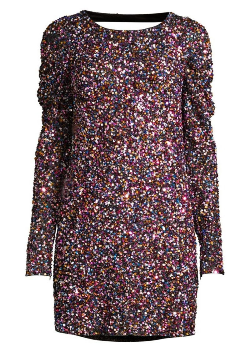 Parker Exeter Sequin Puff Sleeve Mini Dress