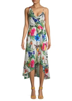 Parker Floral Asymmetric High-Low Dress