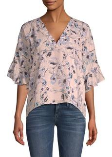 Parker Floral Bell-Sleeve Blouse