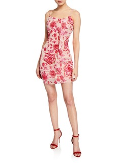 Parker Floral Embroidered Lace Bodycon Dress