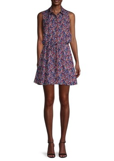 Parker Floral Fit-&-Flare Mini Dress