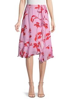 Parker Floral High-Low Skirt