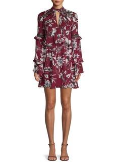 Parker Floral Keyhole Mini Dress