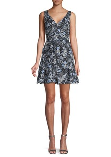Parker Floral Mini Fit-&-Flare Dress