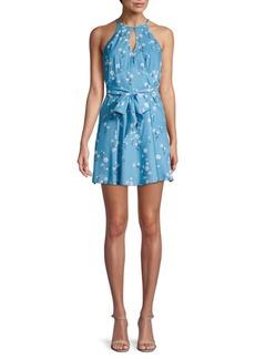 Parker Floral Mini Halter Dress