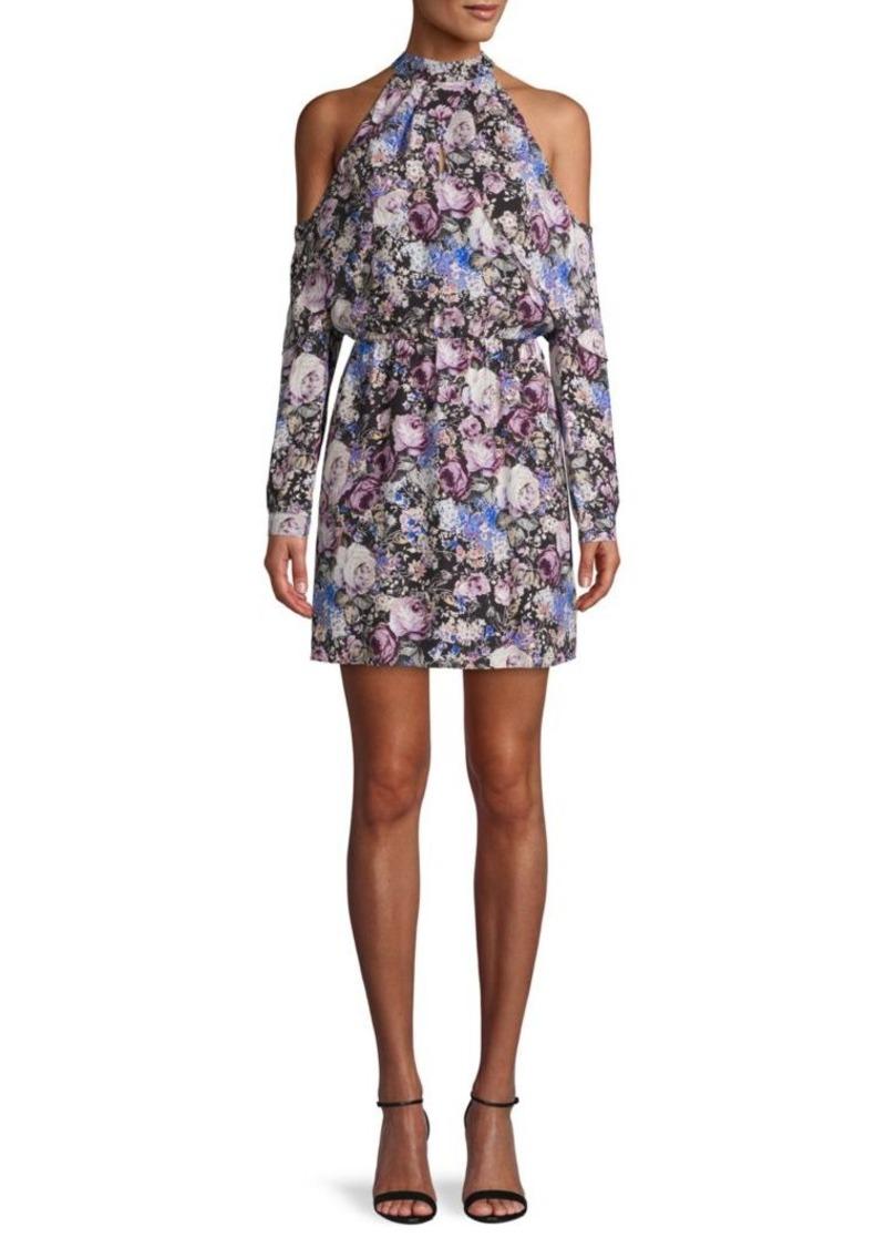 Parker Floral Off-The-Shoulder Silk Mini Dress