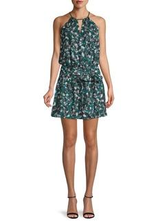 Parker Floral-Print Blouson Dress
