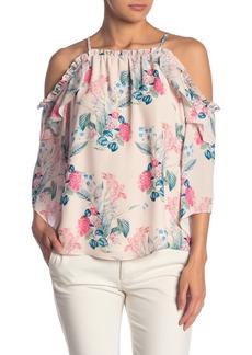 Parker Floral Print Cold Shoulder Blouse