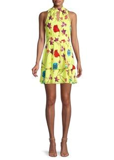 Parker Floral-Print Fit-&-Flare Tiered Dress