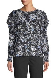 Parker Floral-Print Long-Sleeve Top