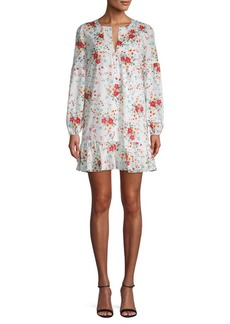 Parker Floral-Print Mini Shift Dress