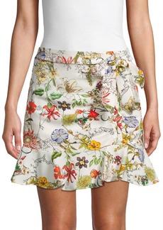 Parker Floral-Print Mini Skirt