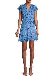 Parker Floral-Print Ruffled Mini Dress