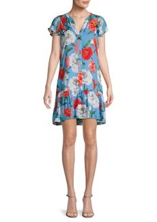 Parker Floral-Print Silk-Blend Shift Dress
