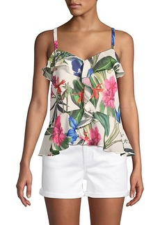 Parker Floral Ruffle Camisole