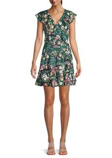 Parker Floral Ruffle Dress