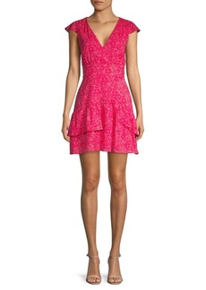Parker Floral Ruffle Mini Dress