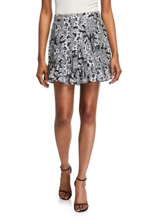 Parker Floral Ruffle Wrap Skirt