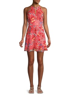 Parker Floral Silk Mini Dress