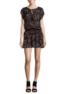 Parker Floral Smocked-Blouson Dress