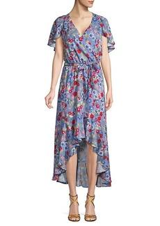 Parker Floral Wrap Hi-Lo Dress