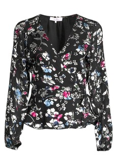 Parker Floral Wrapped Tie Blouse