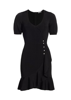 Parker Galice Puff-Sleeve Ruffle Dress