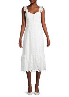 Parker Genevieve Eyelet Midi Dress
