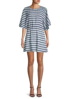Parker Geometric-Print Mini Dress