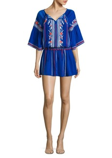 Parker Giselle Embroidered Mini Dress