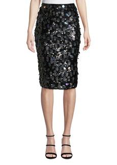Parker Glenda Sequined Pencil Skirt