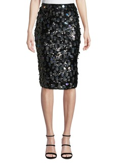 Parker Glenda Sequined Pencil Skirt